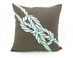 Ocher Flower Lumbar Pillow Cover Decorative Pillow by KainKain
