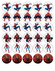 30 X SPIDERMAN TOP QUALITY EDIBLE WAFER/RICE PAPER CUP CAKE TOPPERS | eBay