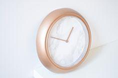 DIY Rose Gold Marble Clock Rose Gold Marble, Lazy Girl, Girls Wardrobe, Clock, Diy, Watch, Bricolage, Clocks, Do It Yourself
