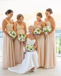 Long Champagne Bridesmaid Dresses One Shoulder Bridesmaid Dress