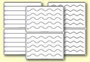 Scissor control worksheets - lines