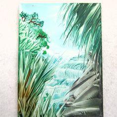 ACEO Babbling Brook Original Encaustic by PaperChainsandBeads, $4.50