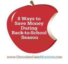 8 Easy Back-to-School Money Saving Tips | www.chocolatecakemoments.com