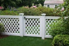 Lattice Fence -- if we replace the current short fence...BUT... might want wood instead of white...