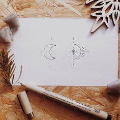 248 Likes, 6 Kommentare - ✽ Artist ∙ ∙ Tätowierer ∙∙ ∙∙ ∙∙ ∙∙ (@ vlada_m… - diy tattoo images - Piercing B Tattoo, Piercing Tattoo, Ankle Tattoo, Moon Sun Tattoo, Tattoo Wave, Shape Tattoo, Lotus Tattoo, Luna Tattoo, Trendy Tattoos