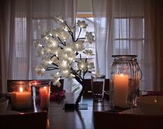 This Fiber Optic Flare Petal Tree features a dual color option and can be set on both cool white or warm white glow. Perfect for use as a centerpiece! Fiber Optic Flowers!