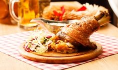 Pork shank, baked in the oven recipe Braised Cabbage, Types Of Meat, Czech Recipes, Cabbage Salad, Great Appetizers, Stuffed Sweet Peppers, Sauerkraut, Charcuterie, Pork