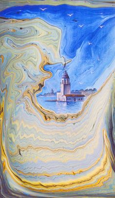 Ebristan - İstanbul Ebru Evi Istanbul, Ebru Art, Turkish Art, Silk Art, Marble Art, Calligraphy Art, Metal Art, Art Drawings, Mandala