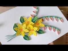 Kids Craft // DIY Quilling Paper for kids learning - Quilling Flowers Color Combinations Diy Quilling, Quilling Images, Quilling Work, Quilling Tutorial, Quilling Ideas, Quilling Flower Designs, Paper Quilling Flowers, Quilled Paper Art, Quilling Patterns