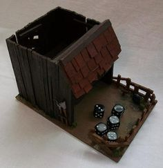 Mini Western-themed dice tower.