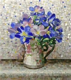 Мозаичная картина Цветы весны
