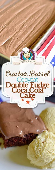 You can recreate this Cracker Barrel Double Fudge Chocolate Cake at home with this easy copycat recipe.