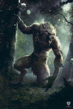 Weerwolven komen in het boek voor. Dit zijn mensen die in ... wolven veranderen bij volle maan. The Art of the Witcher 3