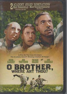 O Brother, Where Art Thou DVD, 2001, Widescreen Tim Blake Nelson, George Clooney