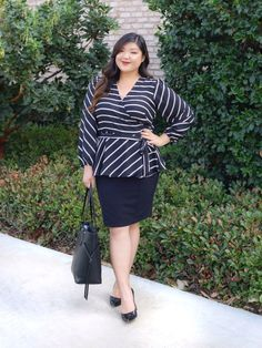 a1653e28f23b Curvy Girl Chic Plus Size Fashion Blog plus size workwear outfit idea with  LOFT and Target