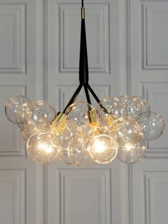 Black and gold retro chandelier