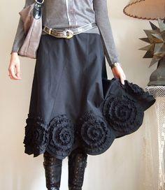 bunches in swirls makes for excellent twirls Fall Skirts, Boho Skirts, Denim Skirts, Modest Outfits, Modest Fashion, Fashion Outfits, Fashion Details, Fashion Design, Skirt Tutorial