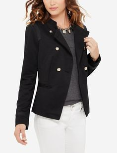 Double Breasted Military Jacket | Women's Jackets & Blazers | THE LIMITED