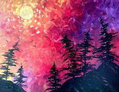 Paint Nite - Slow Burn Sunset