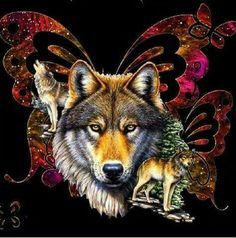 The wolves and the moon added a new photo. Wolf Images, Wolf Photos, Wolf Pictures, Native American Pictures, Native American Artwork, American Indian Art, Wolf Tattoos For Women, Indian Wolf, Spiritual Animal