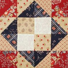 Ben Franklin Mystery Quilt - Block 16 - Simple, a 4 Patch, Half Square Triangles, and 4 corner squares!