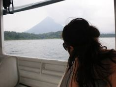 Nikki - View of the Arenal Volcano from Arenal Lake on the return trip (from post: Your best transportation options between Monteverde and La Fortuna - Costa Rica)