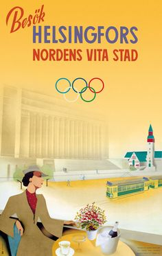 Poster by Jorma Suhonen; Finland; 1939  //  The note says the following: «The poster was created for the Olympic games that were supposed to be held in 1940 (due to the war the games were postponed until 1952)»