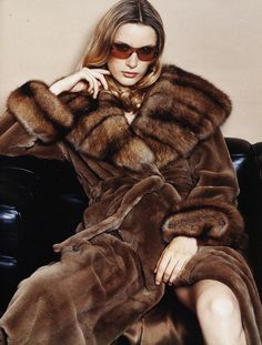 sable & sheared mink fur coat