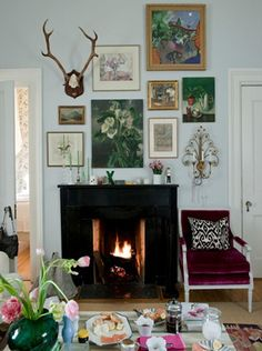 Gallery over fire place