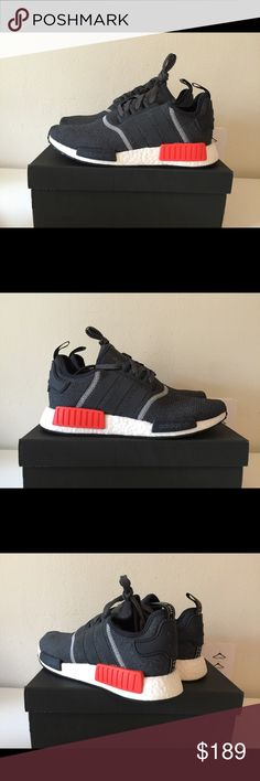 Adidas NMD_R1 dark grey 100% AUTHENTIC GUARANTEED! Available in size us7, 9, (Mens). No trade. Adidas Shoes Athletic Shoes