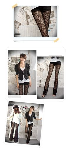 Lace Sheer Bell-bottom Pants, US$12