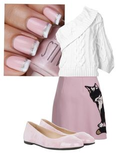 """Pretty in Pink"" by the-minky on Polyvore featuring MSGM, Rosie Assoulin and HUGO"