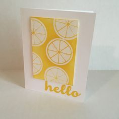 Emboss resist Technique using the Lemon Zest Stamp Set by Stampin' Up! Summery goodness!