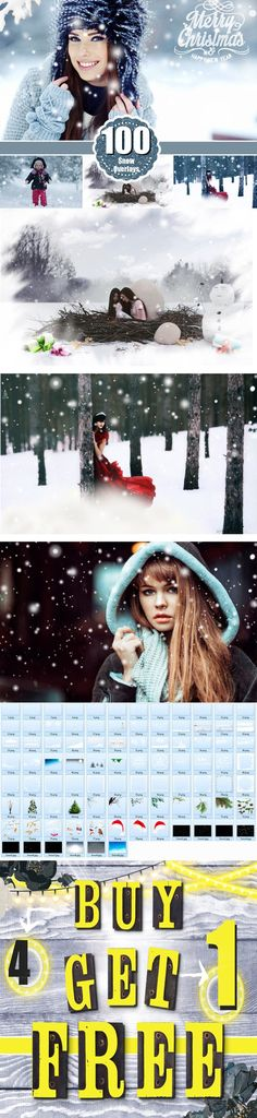 100 Snow Photoshop Overlays, png. Photoshop Layer Styles. $15.00