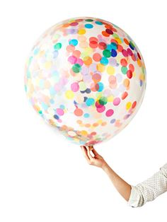oversized confetti balloon