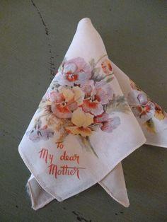 Beautiful Vintage Handkerchief for Mother