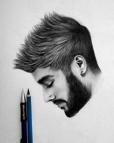 Amazing Drawing of Zayn Malik By: @dhruvmignon  _ Follow @artistic.explorer