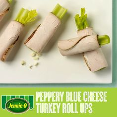 Peppery Blue Cheese Turkey Roll-ups | Back to School | #JennieO #kidfriendly #afterschool #snacks #howto #GIF