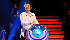 """David Tennant  Being goofy on the """"Weakest Link: Doctor Who Special"""" episode.  He is tapping out the rhythm of the Doctor Who Theme"""