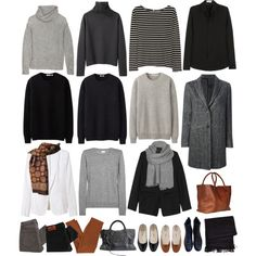 Autumn capsule wardrobe #3 by eizhowa on Polyvore featuring Yves Saint Laurent, R13, Duffy, Iris & Ink, Margaret Howell, rag & bone, Karl Lagerfeld, Maison Scotch, Marc by Marc Jacobs and Balenciaga