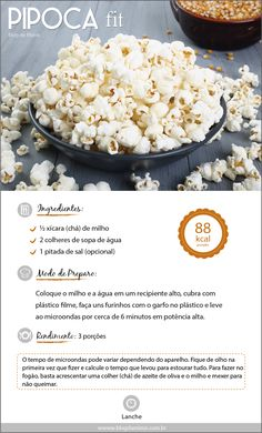 Pipoca fit do Blog d