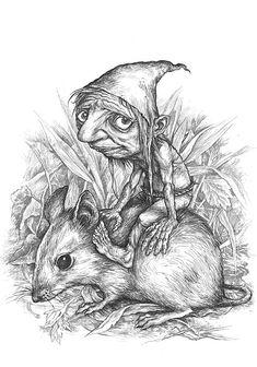 Serbian Expelled Demons by Ivica Stevanovic, via Behance Fairy Drawings, Fantasy Drawings, Cool Drawings, Drawing Sketches, Fantasy Art, Fairy Sketch, Arte Lowbrow, Fairy Paintings, Kobold