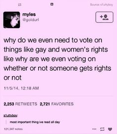 I thought this was gonna be anti feminist and shit but I have thoroughly enjoyed this post Faith In Humanity Restored, Look Here, Pro Choice, Patriarchy, Equal Rights, Social Justice, In This World, Equality, Just In Case