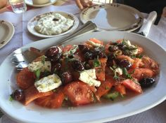 Possibly the best Greek salad I've ever had, at Bioporos in Corfu. Not sure if it was the creamy feta or the addition of herbs, or even the perfect setting, but it was fab. my review is on the blog now - link is in the bio.