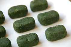 Dried vegetable soup cubes, made with stinging nettles but recipes adaptable to any veggie.