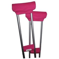 Amazon.com: Crutcheze Sport Pink Crutch Pads Covers with Comfortable Arm and Hand Cushions Designer Fashion Accessories for Underarm Crutches Made in USA: Health & Personal Care