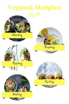 5 grønne retter til din sunde uge – Vegansk madplan uge 21