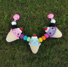 Ice Cream Stroller Mobile Crochet Pattern
