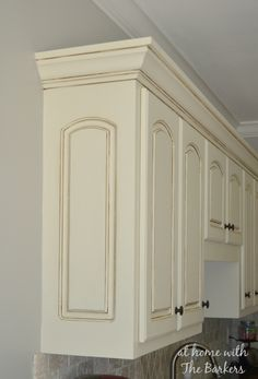 Glazed MDF cabinets give beautiful detail.