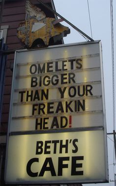 Oh Beth's! Loved this place! Dive with 12 egg omelets. (Yes, you can get a small omelet with only 6 eggs. Western Washington, Seattle Washington, Washington State, Seattle Food, Seattle Area, Wa State, Eating At Night, Evergreen State, Soda Fountain